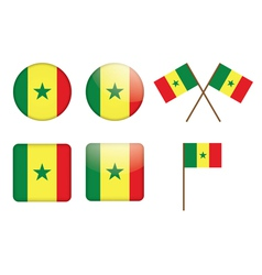 badges with flag of Senegal vector image