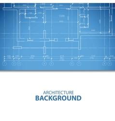 Blue architecture plan vector
