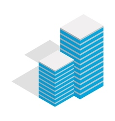 Building icon isometric 3d style vector image