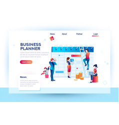 business planner of calendar job vector image