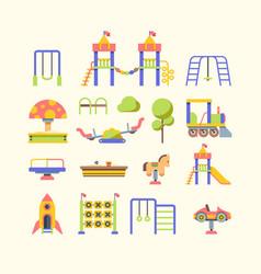 child playground equipment flat vector image