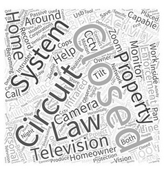 Closed Circuit TelevisionCCTV at Work and around vector image