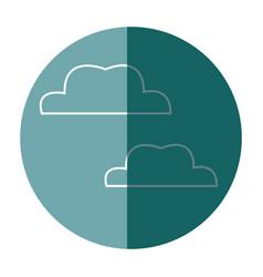 Cloud decoration celebration icon contour vector