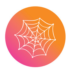 colorful gradient halloween holiday spider web vector image