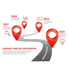 Company timeline history and future milestone of vector