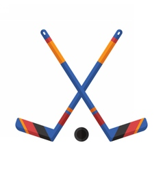 Crossed Hockey Sticks vector