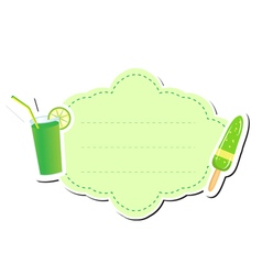 Cute sticker label frame for text Kids tag vector