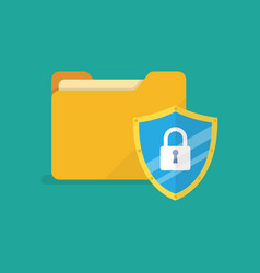 Data protection internet security vector
