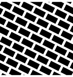 Diagonal bricks black white seamless pattern vector