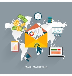 Email marketing concept vector