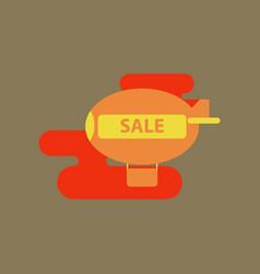Flat icon air balloon sale vector