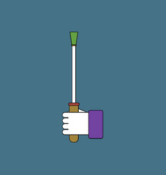 flat icon design collection sex stick in hand vector image vector image