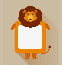 Frame design with lion character vector