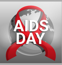 global aids day concept background cartoon style vector image