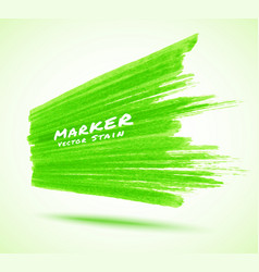 green marker stroke background in perspective vector image
