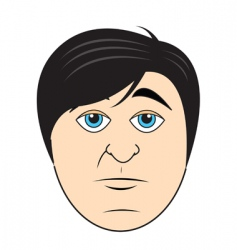 guys face vector image
