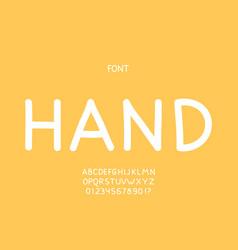 hand font alphabet vector image