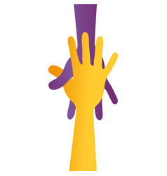 hand human silhouette colors community icon vector image