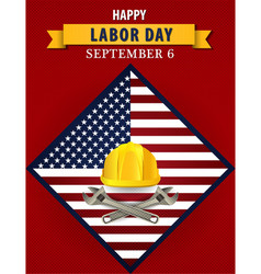 Happy labor day usa poster vector