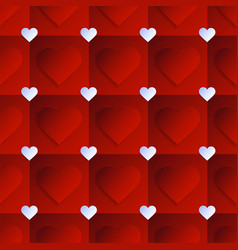heart seamless pattern with creative shape in vector image