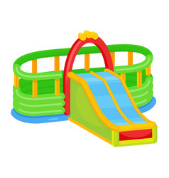 inflatable slides icon kid activity for jumping vector image