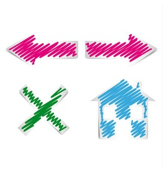 internet browser navigation icons vector image