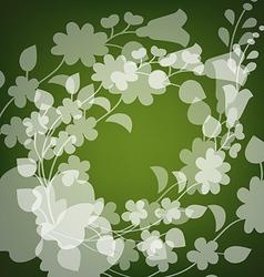 Kalocsai pattern on green vector
