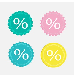 Label sale percent set Flat design vector