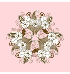 lace pattern with paisley floral elements vector image