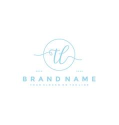 Letter tl feminine logo design vector