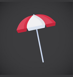 life guard umbrella flat icon vector image