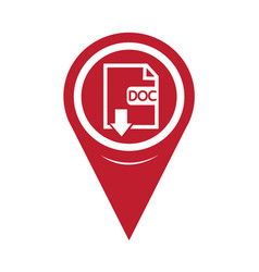 map pin pointer file type doc icon vector image