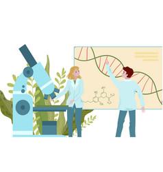 Medical labaratory scientists at covid-19 virus vector