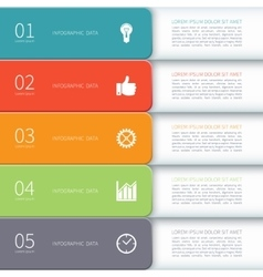 Modern minimal design infographic template vector image