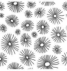 monochrome organic radial cells in pattern vector image