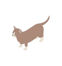 Munchkin cat icon isometric 3d style vector