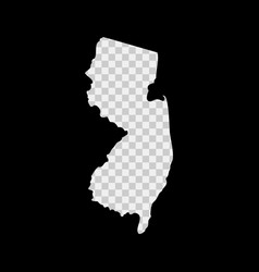 New jersey us state stencil map laser cutting vector