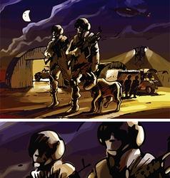 Night Patrol vector image