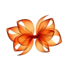 Orange Transparent Bow on White Background vector