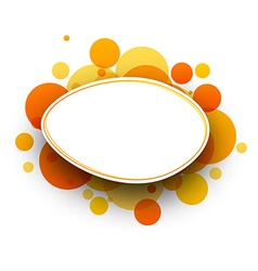Oval orange background vector
