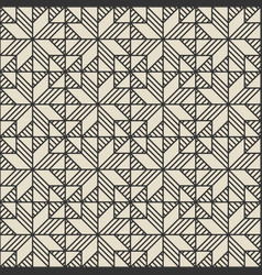 patchwork monochrome geometric seamless pattern vector image