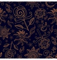 Pattern Flowers14 vector image