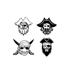 Pirate captain and knife vector