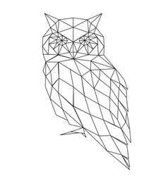 Poligonal owl silhouette vector