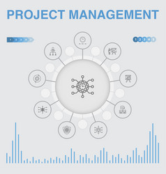 Project management infographic with icons vector