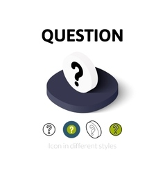 Question icon in different style vector