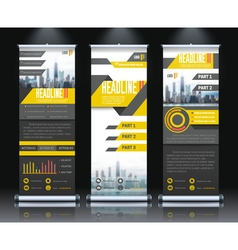 Report Rollup Banners Set vector image