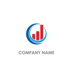 Round business graph company logo vector