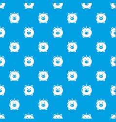 safe money pattern seamless blue vector image