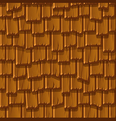 Seamless pattern brown wooden old roof vector